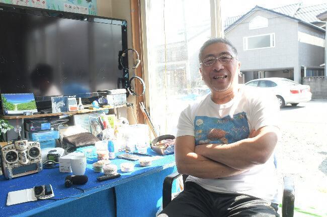 インタビューが終わり、笑顔の林正道さん
