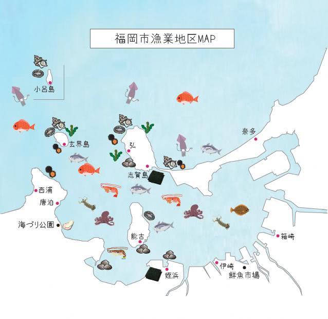 福岡湾地図