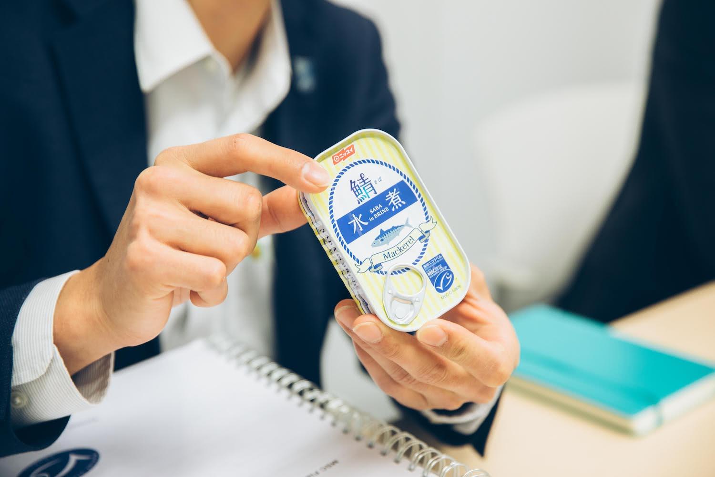 鯖の缶詰に表示されたMSCラベル