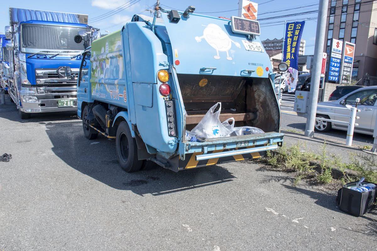 清掃車のマリバー号