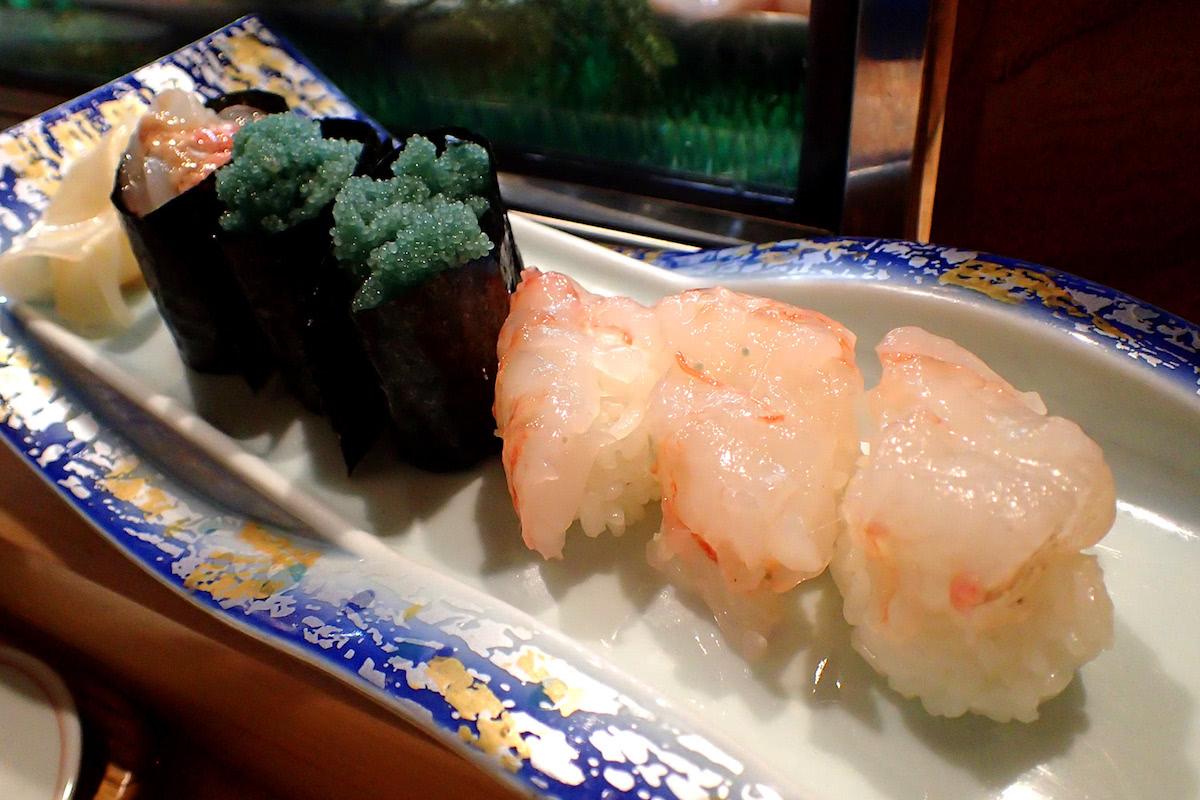 ボタンエビの寿司