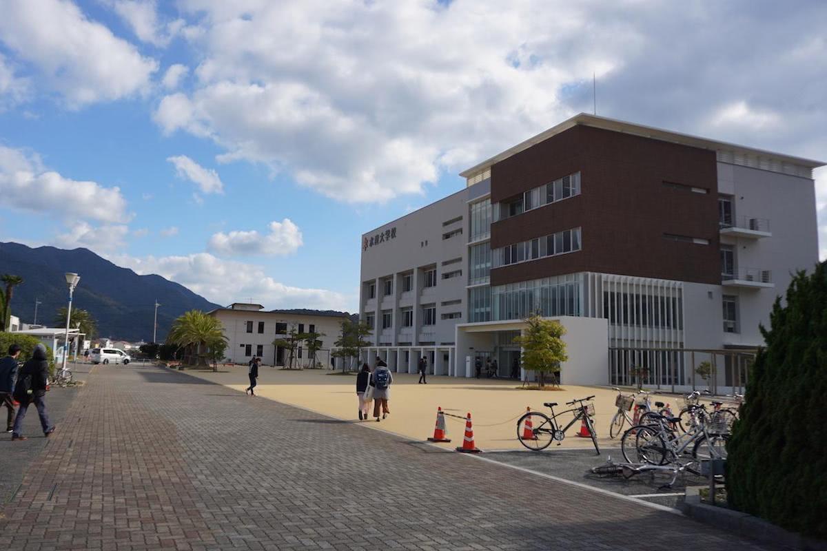 水産大学校の中庭