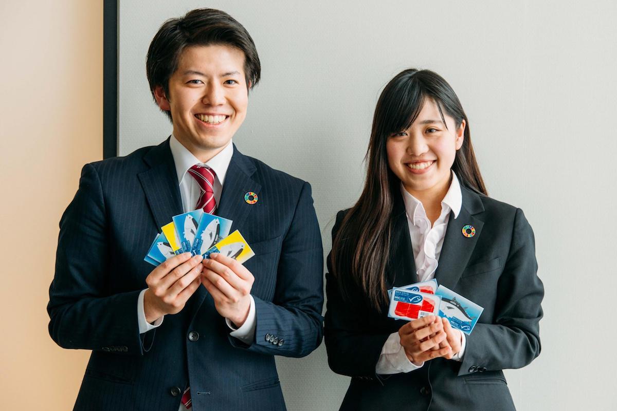 田中秀幸さんと安藤令華さん