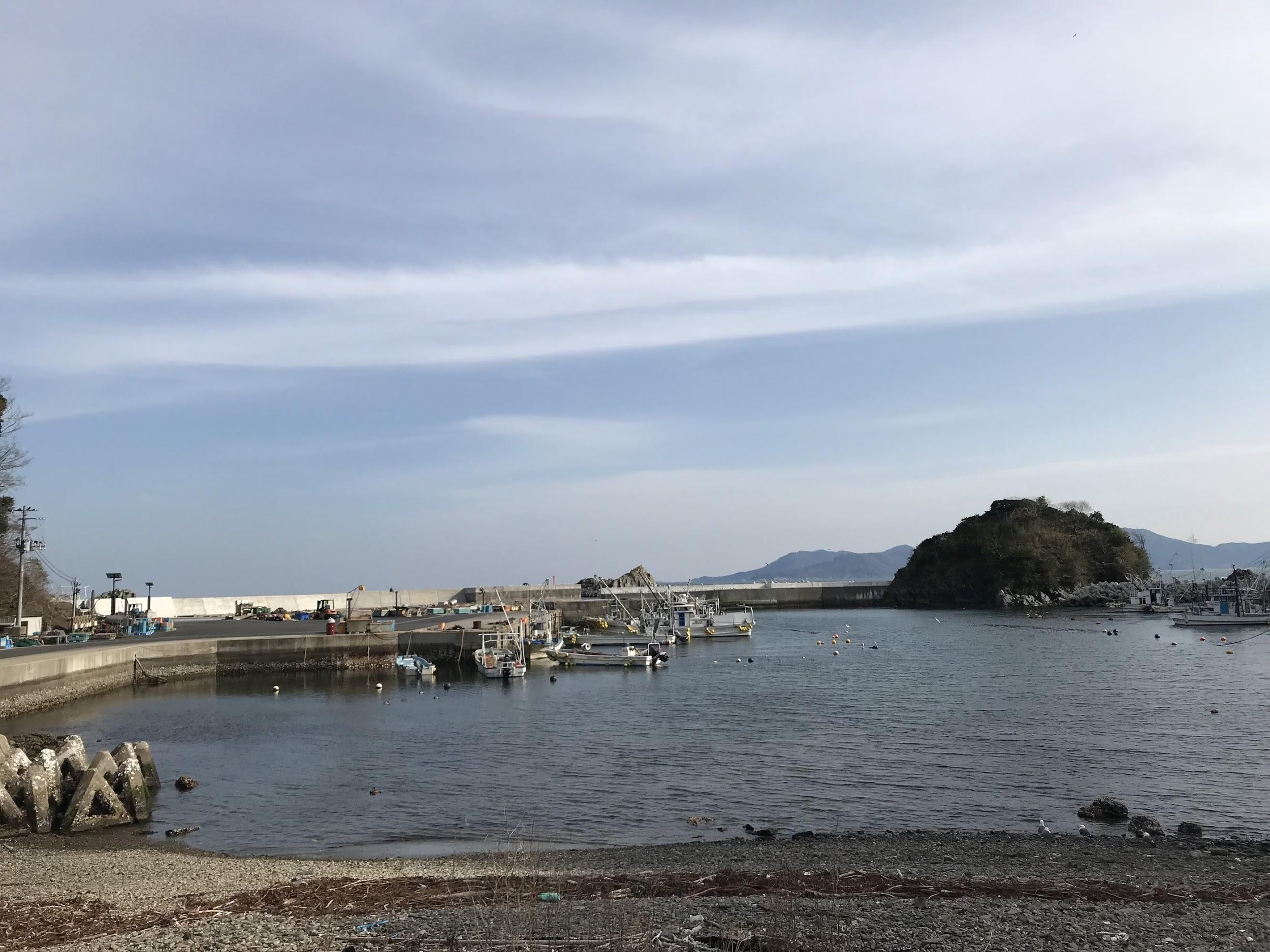石巻の海の写真