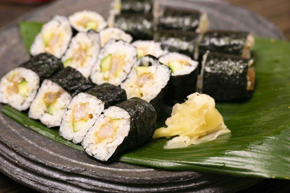 金南風とサワラの巻き寿司
