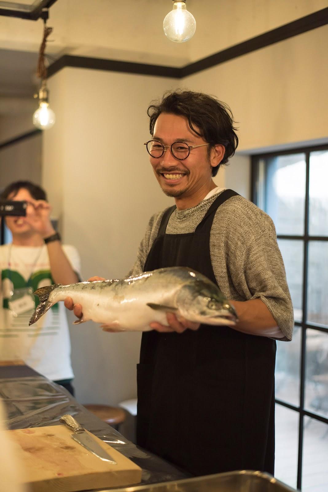 漁師教室での川口さん