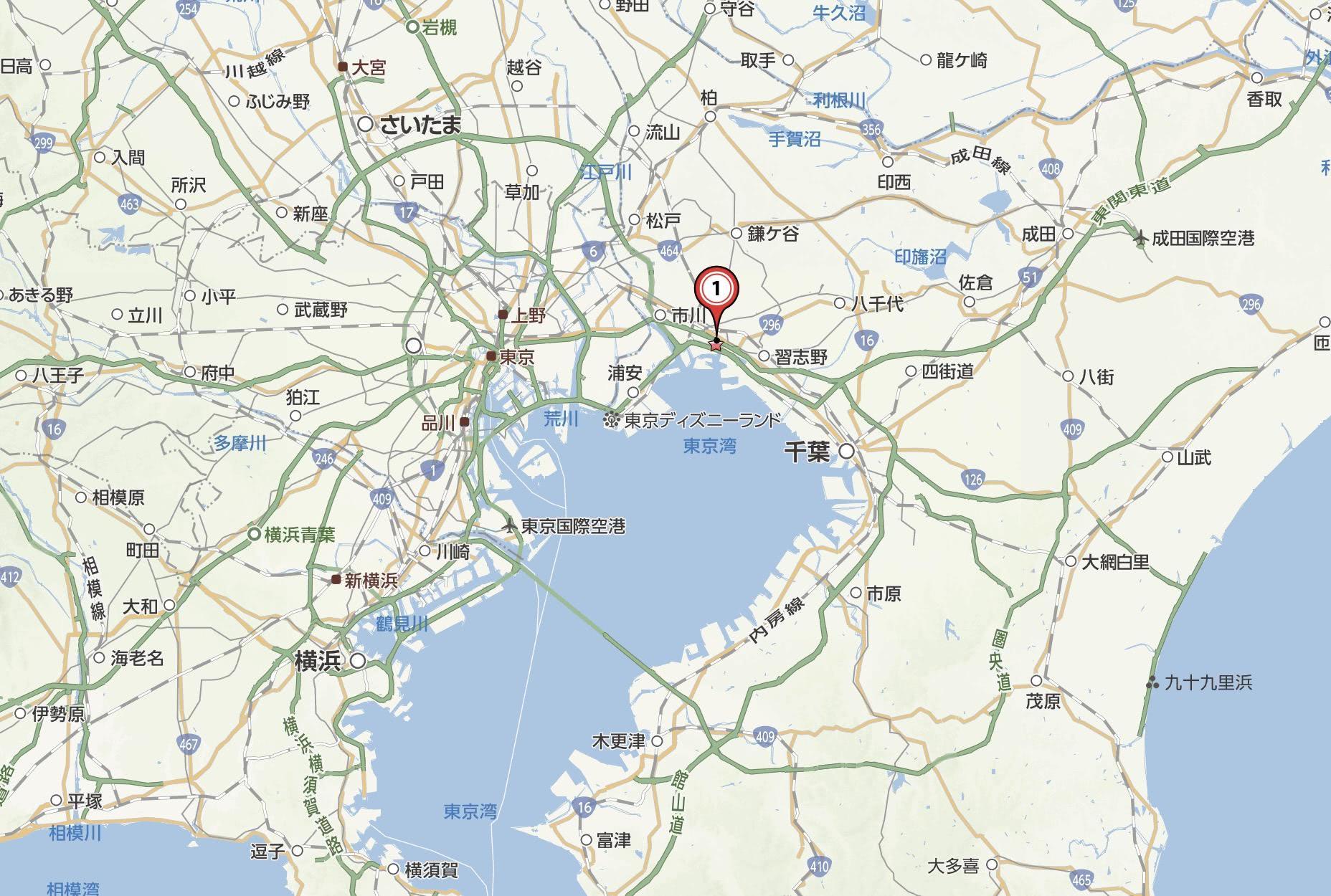 船橋市の地図