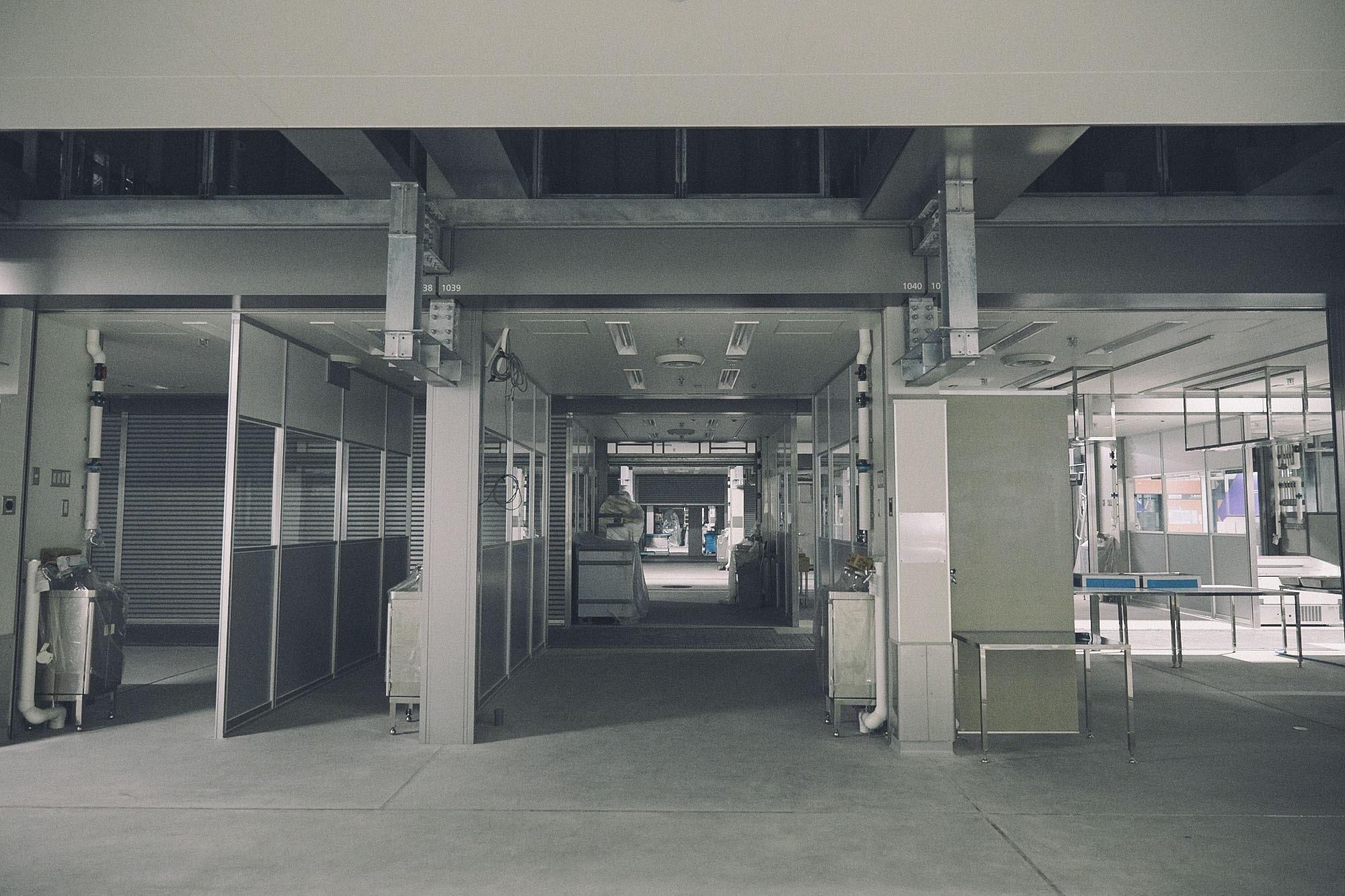 豊洲市場内部の写真