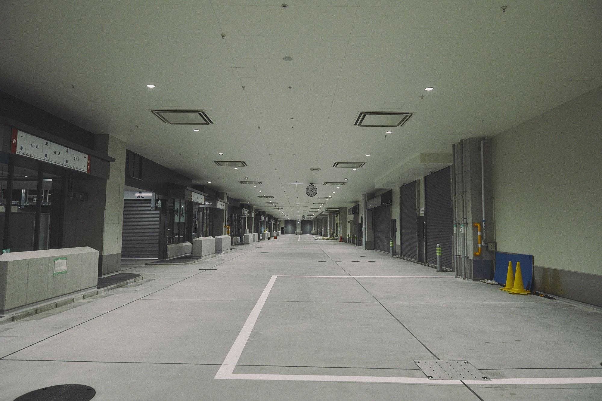 豊洲新市場の内部写真