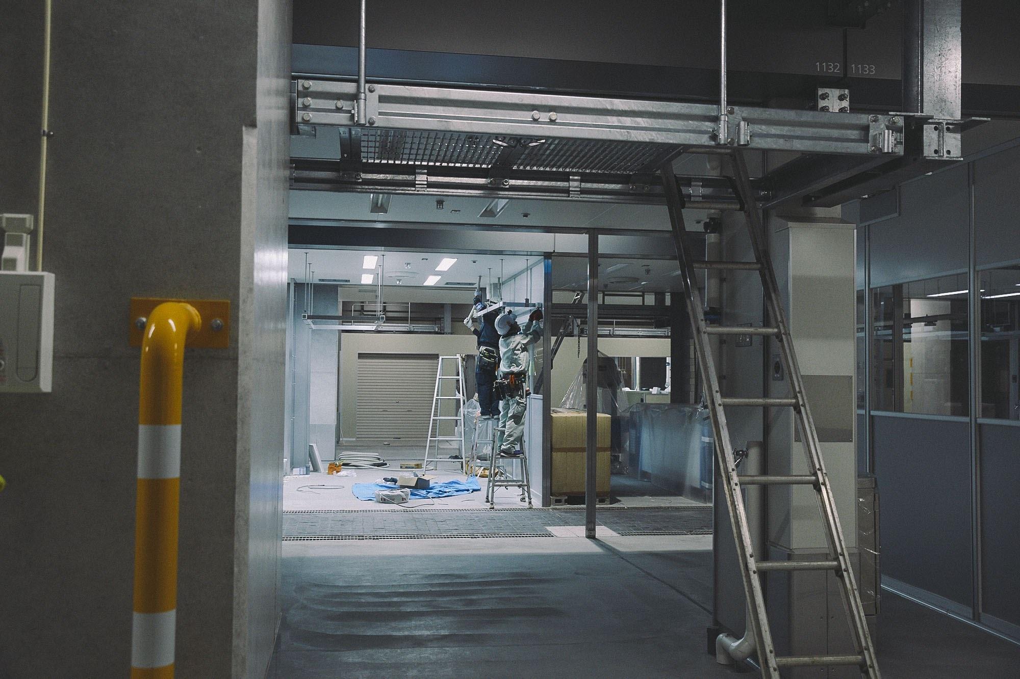 豊洲新市場の工事写真