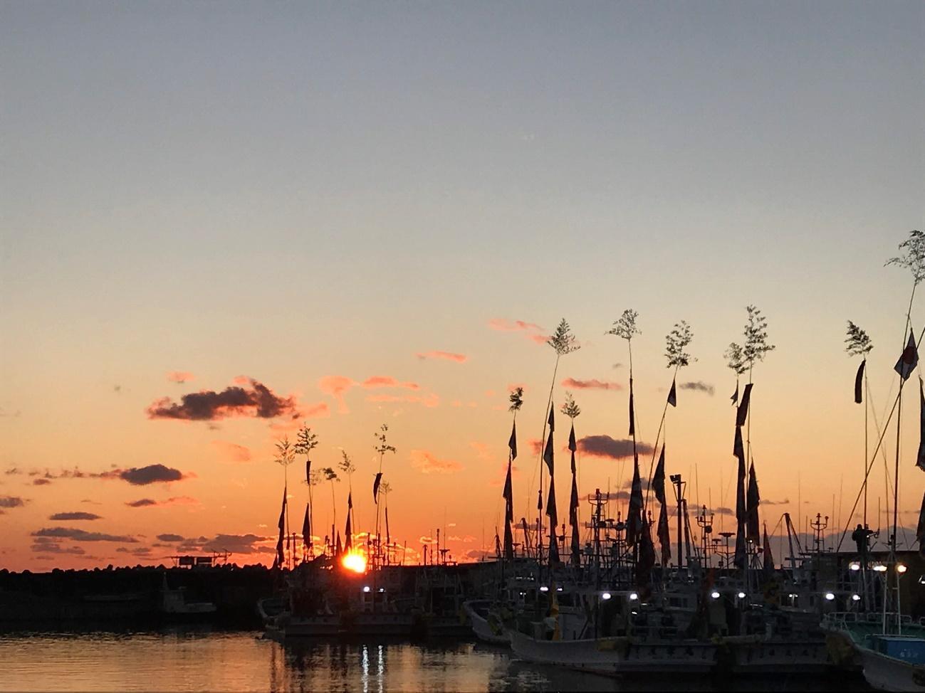 2020年1月、浪江町請戸漁港の様子