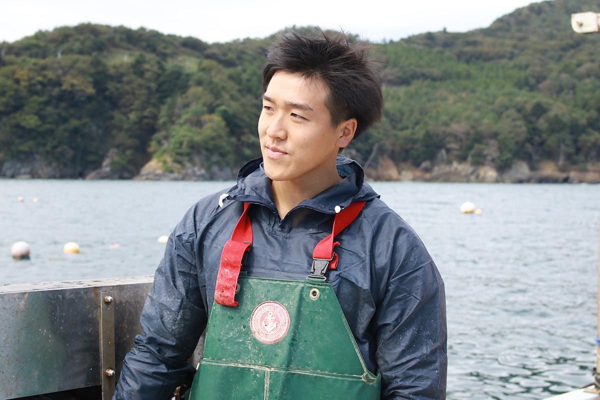 漁の最中の三浦さん