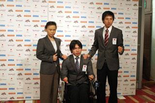 北京パラリンピック日本選手団代表