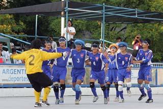 同選手権、対韓国で初勝利。世界選手権、唯一の勝利だった