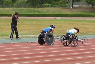 北京代表選手のスタート練習(堺市合宿2008年)