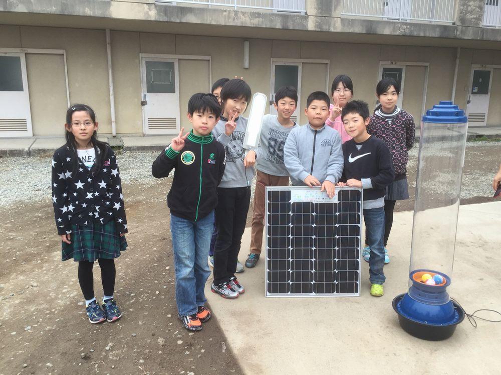 [福島の子供が手作りソーラーパネルを作り、学校に「希望の明かり」を灯したい!!]の画像