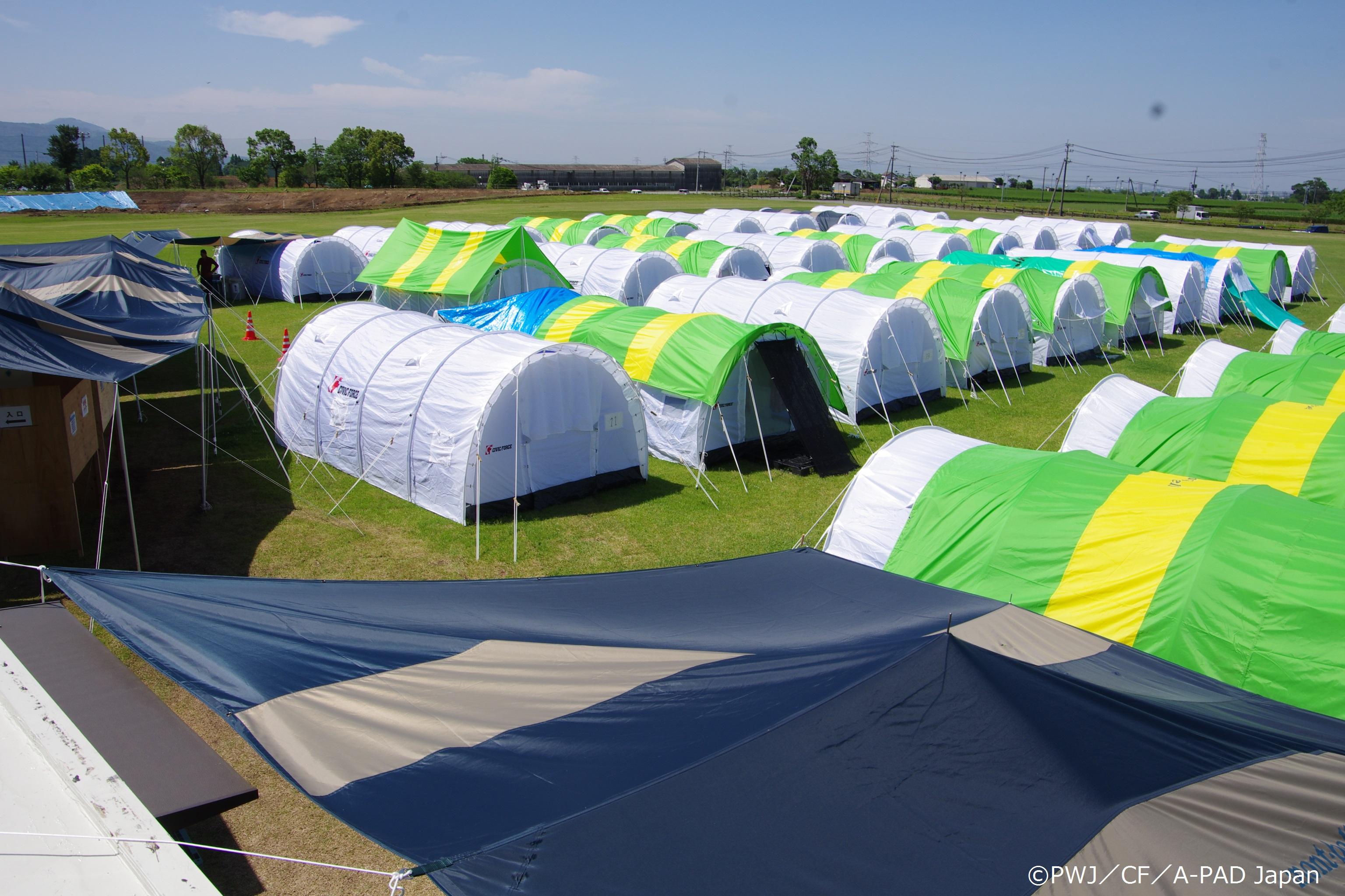 所 テント 避難