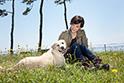 保護犬だったアリスと代表理事滝川クリステル。