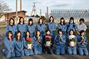 命の花プロジェクト。青森県立三本木農業高校を訪れました。立ち上げメンバーの皆さんと。
