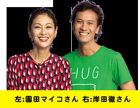 左:園田マイコさん 右:岸田徹さん