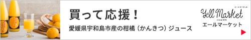 「買って応援!愛媛県宇和島市産の柑橘ジュース」