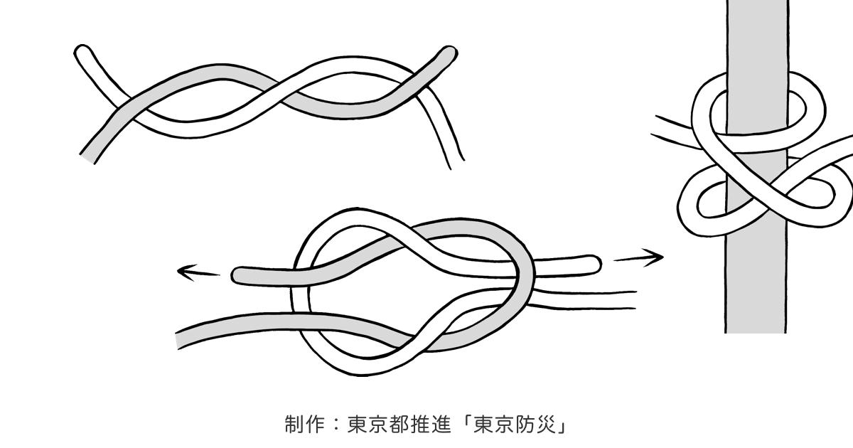 ほどけ ない 結び方 ロープ