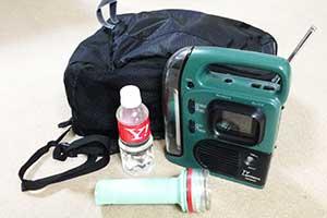 避難バッグのイメージ写真