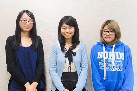 鷲尾さん、上原さん、頭巾さんの写真