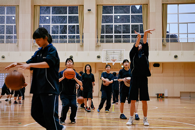 東松島市立鳴瀬未来中学校の女子バスケットボール部