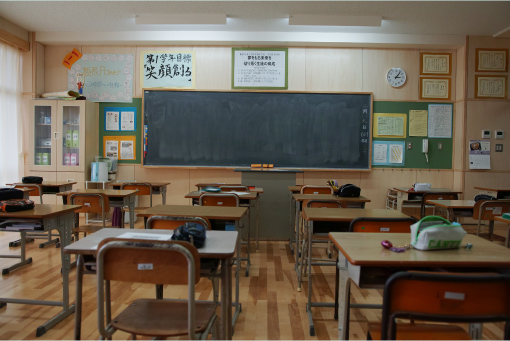 東松島市立鳴瀬未来中学校の写真