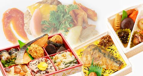 東北3県のさまざまなおいしい食材で作ったお弁当。 売上の一部は支援活動に寄付されます。