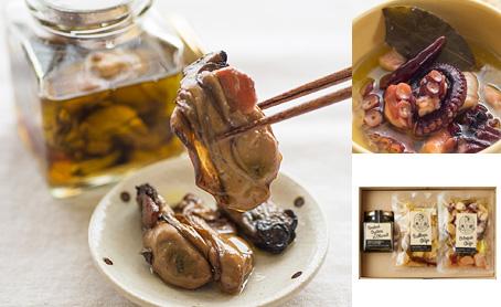 燻製かきのオイル漬け&海鮮アヒージョセット イメージ
