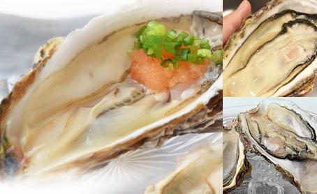 宮城&岩手 殻付生牡蠣食べ比べセット 各5枚 合計10枚 牡蠣酢と軍手、殻剥き用ナイフ付の写真