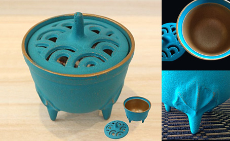 南部鉄器 四季 香炉 6色から選べるの写真
