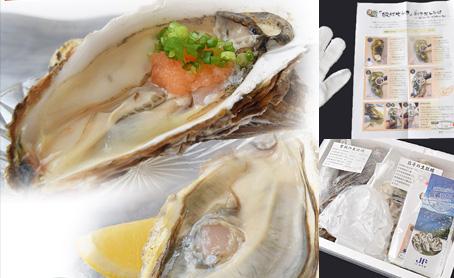 宮城&岩手 殻付生牡蠣食べ比べセット(牡蠣酢と軍手、殻剥き用ナイフ付)の写真