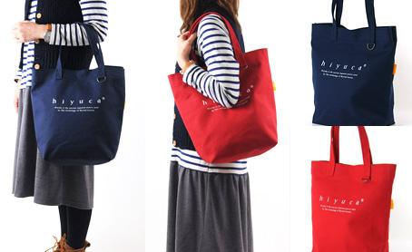ヒユカ Hiyuca バッグ 石巻縫い物舎 キャンバス トートバッグ
