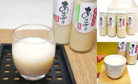 豆乳入り甘酒と米と糀だけの甘酒6本セットの写真