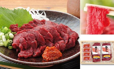 会津銘産馬肉刺身セットの写真