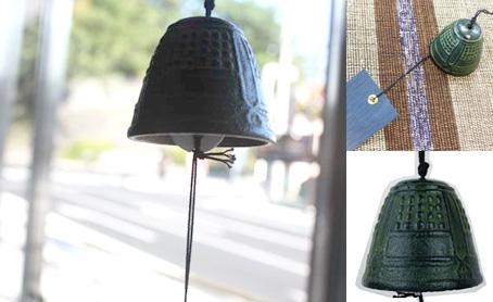 南部鉄器の風鈴 釣鐘の写真