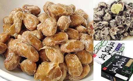 遠野納豆 『秘伝豆の納豆』&『黒豆の納豆』 (20パック)の写真