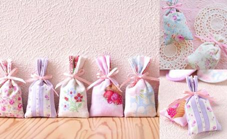 ラベンダー香り袋(ポプリ・サシェ)ハーブの写真
