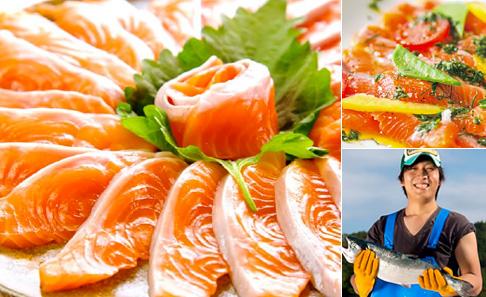 銀鮭の王様、「銀王」刺身用銀鮭冷凍フィレを食べやすい半身でお届けの写真