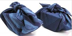 会津木綿のあずま袋