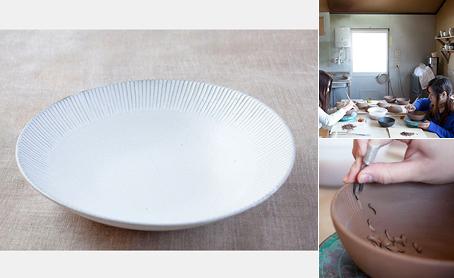 白しのぎ 大皿の写真
