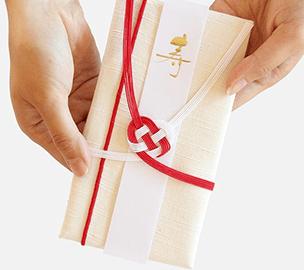 会津木綿のご祝儀袋