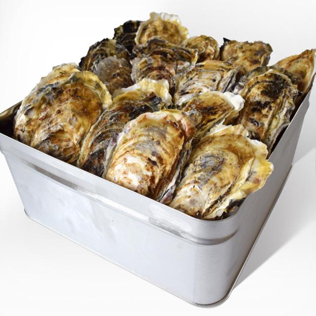 牡蠣のカンカン焼きの写真