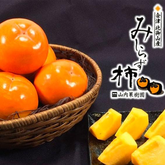 会津みしらず柿3kgセット(9~11個入り)