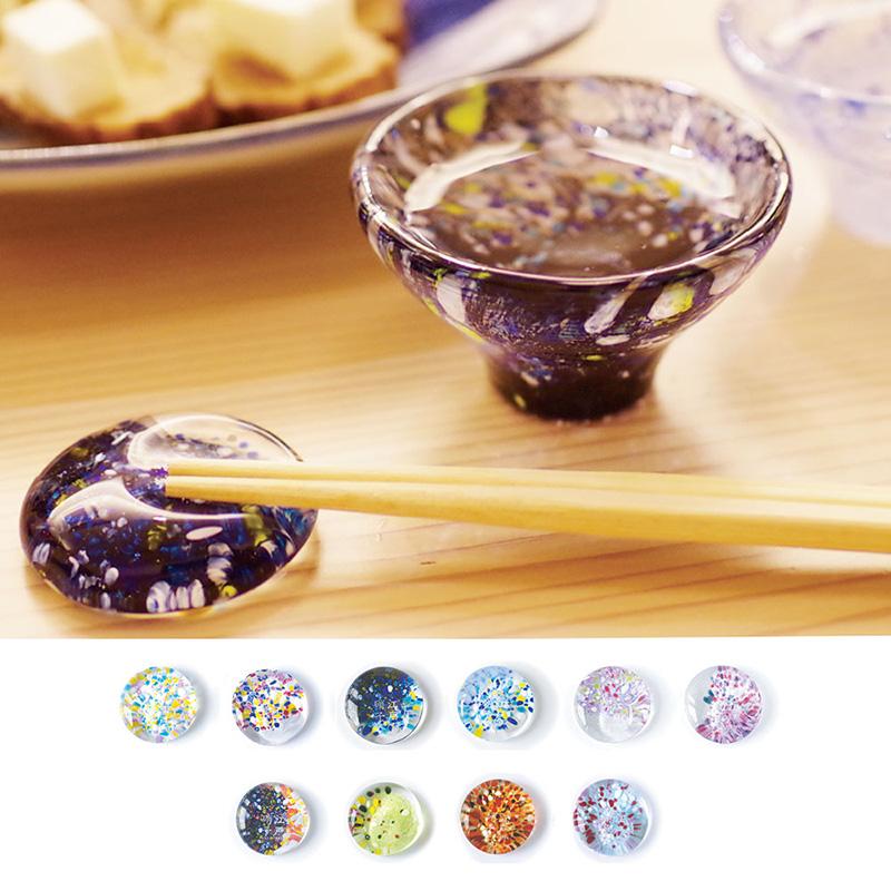 江戸硝子の箸置きの写真