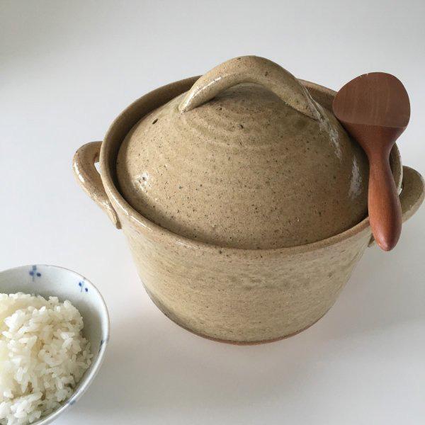 萬古焼3合ご飯釜の写真