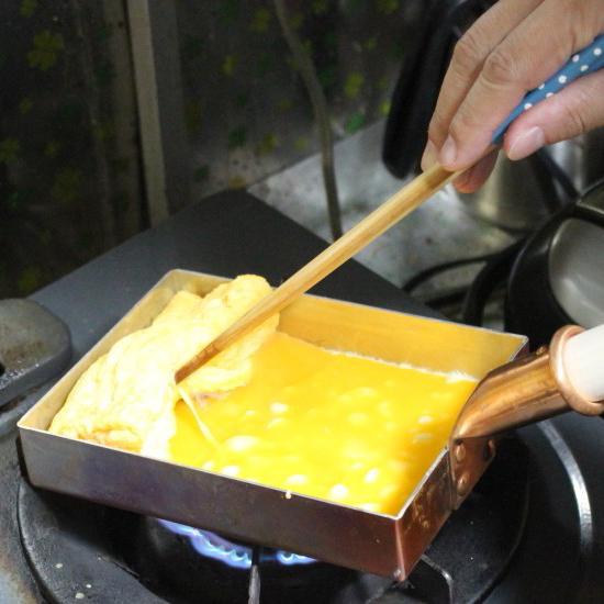 銅製たまご焼き器の写真